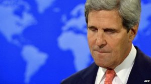 "Kerry said the US would take ""an informed decision"" on how to respond to the use of chemical weapons"