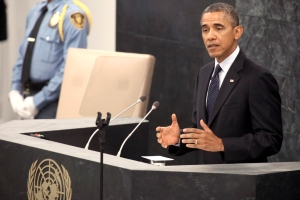 President Barack Obama Delivers Address to United Nations General Assembly in New York