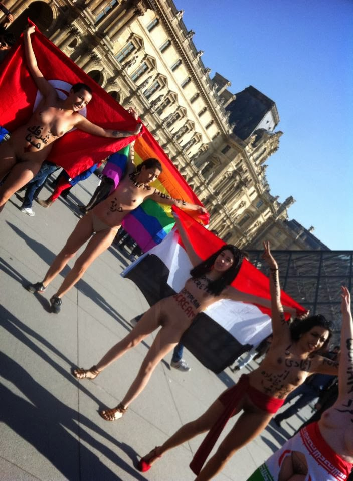Nude Protest At Int Womens Day In Paris By Iranian And -2984