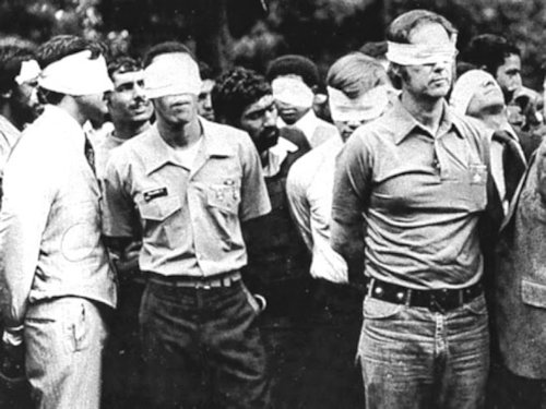 American diplomats held hostage for 444 days by the terrorist Islamic regime in Iran in 1979.